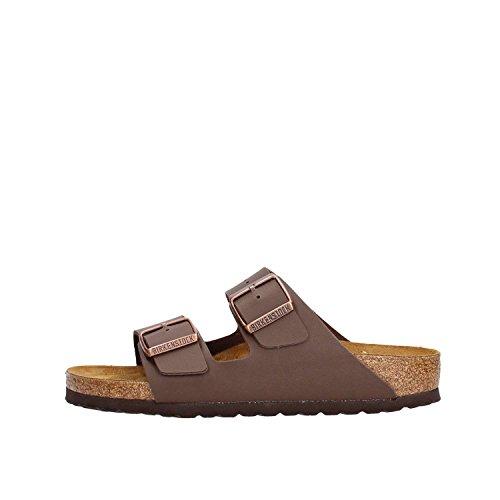 Birkenstock Schuhe Arizona Birko-Flor Schmal Dark Brown (051703) 40 Braun