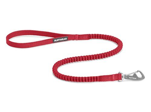 Ruffwear Kurze elastische Hundeleine, Alle Hunderassen, Länge: 0,75 m - Dehnbar bis 1,3 m, Breite: 15 mm, Rot (Red Currant), Ridgeline Leash, 40501-615