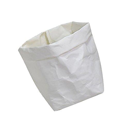 Sharplace Waschbar Kraftpapier Beutel Container Papier Tasche Sukkulenten Pflanzen Topf Beutel Blumentopf Cover Home Aufbewahrungstasche Weiß - 8x8x15cm