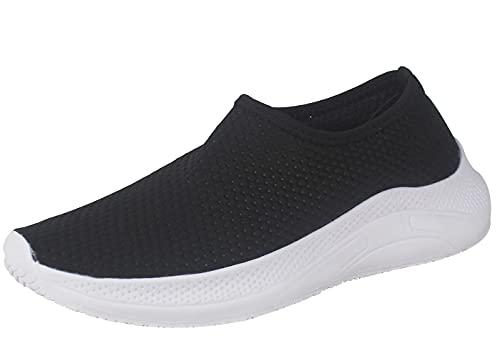 Zapatillas Deportivas de Tela Transpirables para Verano, Tenis con Soporte para el Talón Anti resbalante (Negro, Numeric_38)
