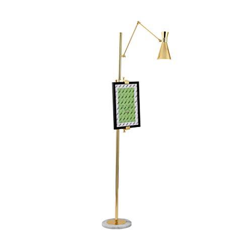 Lámpara de pie Nordic Post-Modern Lampshade Lamp Cuerpo Ajustable con Marco de Fase E14 Hierro Sofá Salón Arte Decoración Lámpara de pie (Color : Remote Control Light)