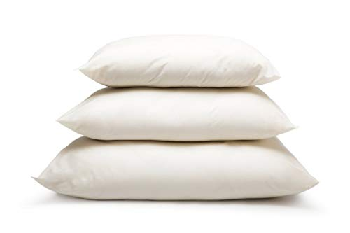 Natural Australian Wool Filled Pillow (King Size, Medium Fill), with 100% Organic Cotton Cover, Adjustable Loft Height, Contours to Head Neck and Shoulder for Sleeping Comfort, Machine Washable