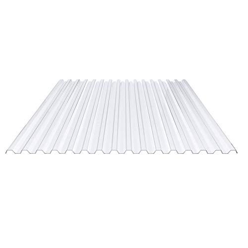 Lichtplatte | Spundwandplatte | Profil 70/18 | Material PVC | Breite 1095 mm | Stärke 1,4 mm | Farbe Klarbläulich