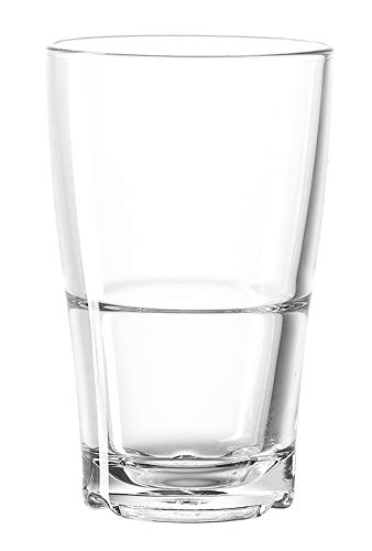 Leonardo Senso Becher, 6-er Set, 390 ml, spülmaschinengeeignet, hitzebeständiges Klarglas, 024036