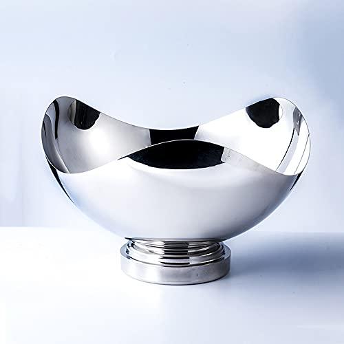 YWSZJ Cubo de Hielo de Acero Inoxidable Soporte de Hielo Grueso Contenedor para Bar Party Champagne Wine Barrel Silver (Color : Silver, Size : 19cm)