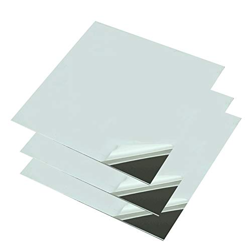SOFIALXC 304 Stainless Steel Sheet,Mirror Surface Polishing Finish, MetalrawMaterials-200mmx200mm Thick:0.6mm 2pcs