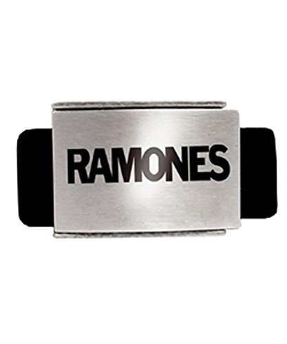 Unknown - Ceinture - Homme Noir black belt, silver buckle