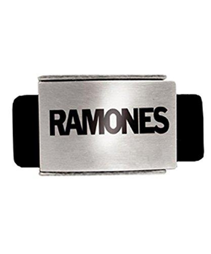 Unknown - Ceinture - Homme Noir black belt, silver buckle