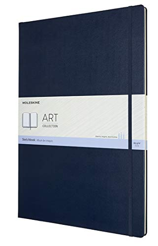 Moleskine Art Sketchbook, Hard Cover, A3 (11.75' x 16.5') Plain/Blank, Sapphire Blue, 96 Pages