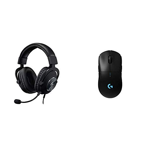 Logitech G Pro X Gaming Headset with Blue VO!CE Technology Bundle with Logitech G Pro Wireless Gaming Mouse with Esports Grade Performance Idaho