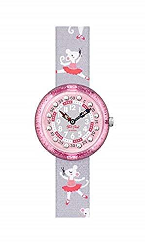 Flik Flak FBNP162 Mädchen-Uhr Pirouette Analog Quarz Textil-Armband