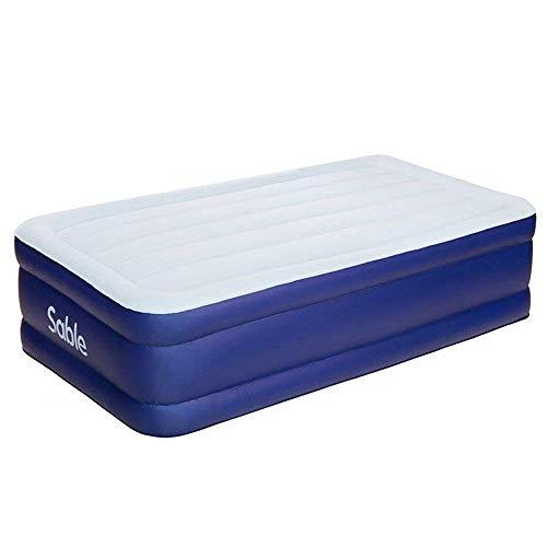 Sable エアーベッド エアーマットレス 簡易ベッド 電動ポンプ内蔵 耐荷重300kg 収納バック&補修シート付 203x99x厚さ46cm 二代目 シングルサイズ キャンプ 旅行 来客用