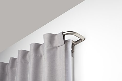Umbra Twilight Double Curtain Rod Wrap Around Design for Blackout or Room Darkening Panels, 48-88 Inch (122-224cm), Nickel