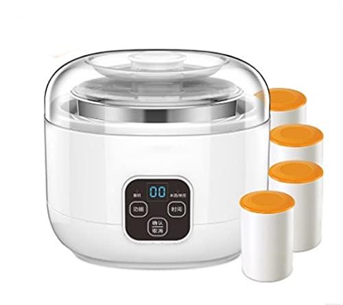 xinyawl Maquina de Yogurt Fabricantes de Yogurt multifuncionales Vino de arroz Natto 220V Totalmente automático LCD Interruptor táctil 304 Tiempo de microcomputador de Acero Inoxidable