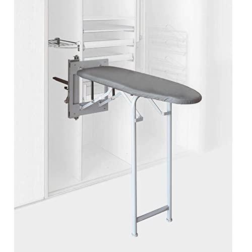 Tablas Tablas de planchar plegables para muebles y gabinetes de cocina, Tabla de planchar oculta con elevación, Tabla de planchar plegable con cubierta, Planchado resistente con giro de 90 ° que aho