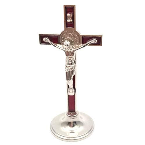 KOUJING Kruisbeeld Stand Christus Katholieke Jezus Standbeeld Beeldje Auto Thuis Kapel Decor
