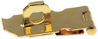 Polished Brass Finished Steel Hasp Set - 1 1/2