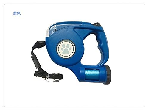 YANGPING HONGHUAER 4.5M LED Pet Pet Leash LINTRONAL LLANTE ANTENDIBLE Pet Pet Correa DE PEASH LEXH con Bolsa DE Bolsa (Color : Blue, Size : 4.5M)