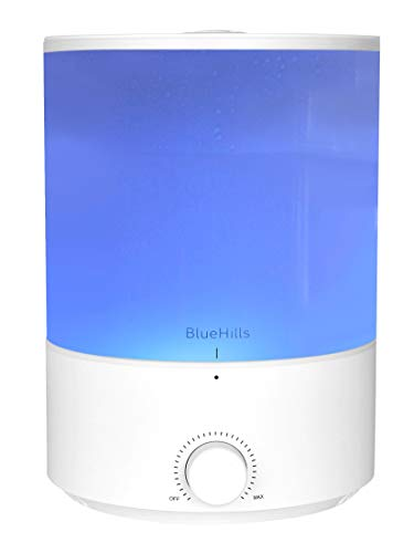BlueHills Premium 4000 ml XL Essential oil Diffuser 4L 4 Liter 70 hour run Humidifier Aromatherapy 1 Gallon Big Capacity High Mist Output for Extra Large Room Home Mood Lights White E401