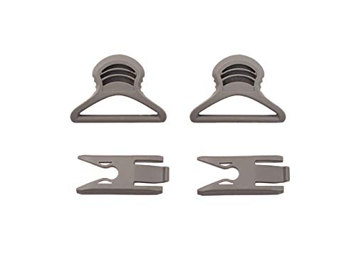 FMA - Goggle Swivel Clips 36mm for Helmet with Rails Foliage