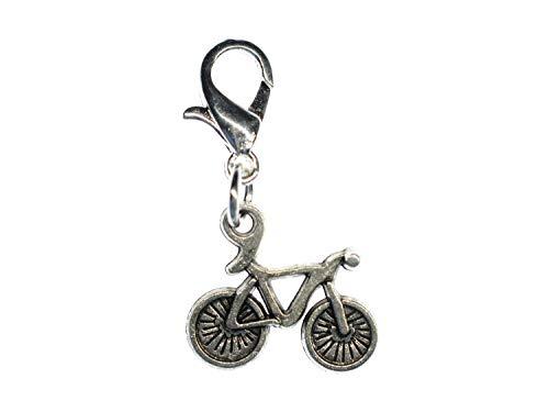 Miniblings Fahrrad Rennrad Bike Charm Rad Fahren 15mm - Handmade Modeschmuck I Kettenanhänger versilbert - Bettelanhänger Bettelarmband - Anhänger für Armband