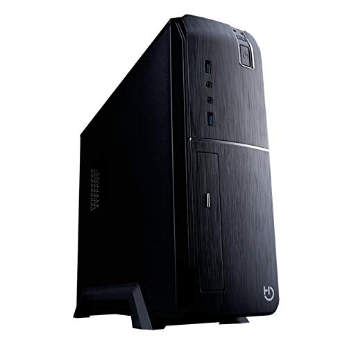 Hiditec ICACMM0197 Placa Base Slm20 Pro CHA010020, Caja Sobremesa 2 x USB 3.0, Bahia DVD Slim Compatible con Fuentes ATX Estandar