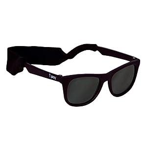 I play(アイプレイ) サングラス UVカット 軽量 ゴムバンド付き 紫外線対策 耐傷性 ベビー キッズ 子供用 Sunglasses Black 0-24m 758391-820-01