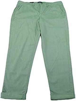 Bandolino Jeans Ladies Felicia Style Slim Leg Roll Cuff Pants Limestone Green