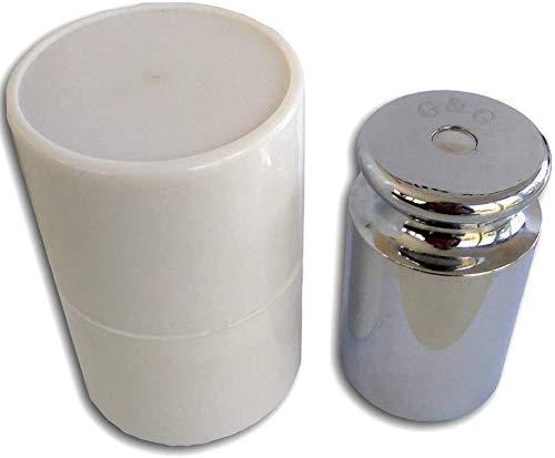 1kg M2 G&G Eisen Kalibriergewicht Prüfgewicht inkl. Schutzhülse/Genauigkeitsklasse M2 G&G