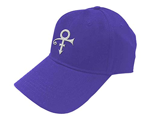 Rocks-off Prince Baseball Cap Weiß Symbol Nue offiziell Purple Unisex