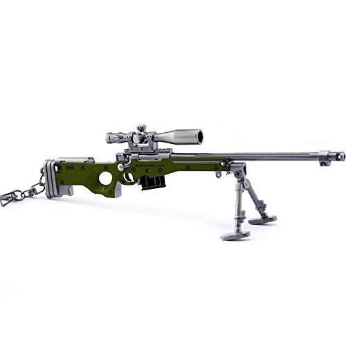 Survival Eat Chicken Games Metal 1/6 AWM Sniper Rifle Gun Model Action...