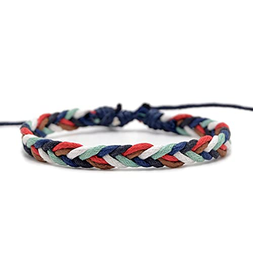 10 pcs 22 Style Handmade Brown Woven Rope Bracelet Women Men Adjustable String Charm Bracelet homme Jewely