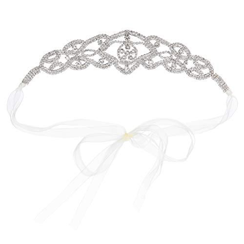 FRCOLOR Diadema de Diamantes de Imitación para Boda Tiara de Cristal Accesorios para El Cabello de Novia