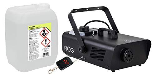 Involight FOG 1500 Nebelmaschinen Set (das ideale Partyset: Nebelmaschine 5,5m Ausstoßweite & Funkfernbedienung, inkl. 5L Nebelfluid, auf Wasserbasis & geruchlos)
