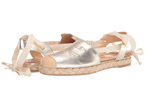 charlotte olympia Tie Up Kitty Espadrilles Gold 39 (US Women's 9) M