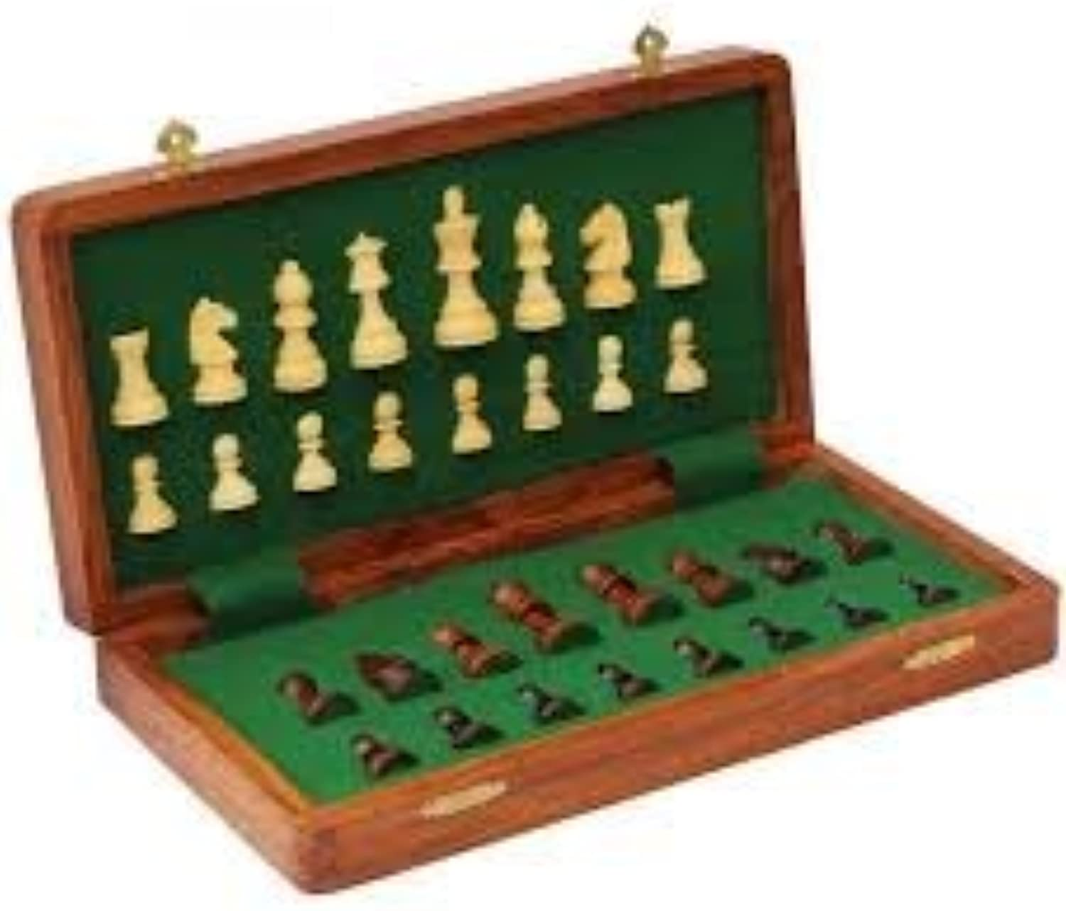 14 Inch Solid Sissiam Wood Folding Chess Set