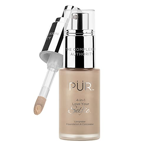 PUR Cosmetics 4-in-1 Love Your Selfie Longwear Foundation & Concealer, Tn1