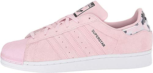 adidas Originals Superstars Running Shoe, Clear Pink/White, 6 M US Big Kid