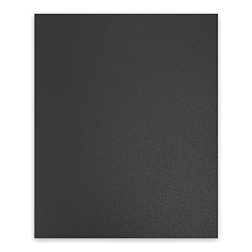 Binditek 100 Pack 12 Mil Sand-Textured Polycover - for Business Reports and Proposals - Lightly Textured Sand Finish - with Square Corners,Un-Punched, Black Color