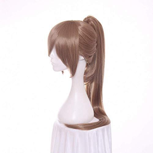 ZTBXQ Fashion Art Party Cosplay Dekorationen liefert Lange gerade Blonde Cosplay Perücke mit Kunsthaar