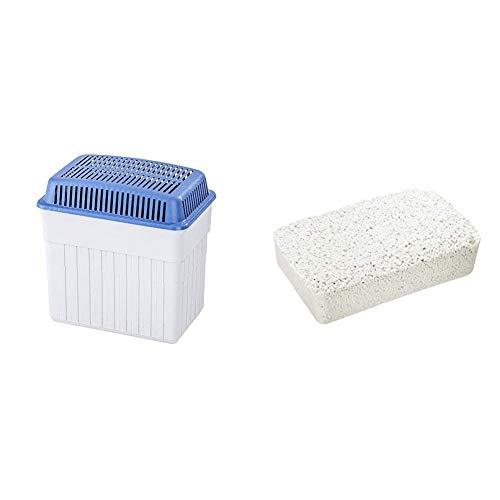 Wenko 5410120500 Feuchtigkeitskiller 2 kg, Luftentfeuchter, 23 x 24 x 15.5 cm, grau & 5410232500 Feuchtigkeitskiller 2 x 2 kg Nachfüllpack, Luftentfeuchter, 20.5 x 7 x 12.5 cm, weiß