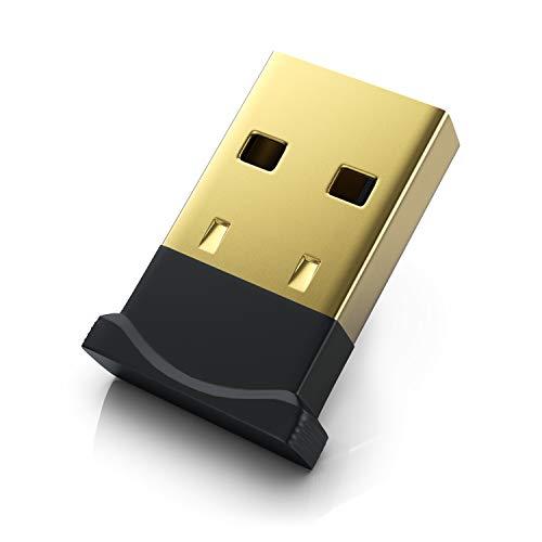 CSL - USB Bluetooth Adapter V4.0 Mini - Bluetooth Dongle Stick - Windows 10 8.1 8 7 XP Vista - für PC HiFi Lautsprecher Kopfhörer