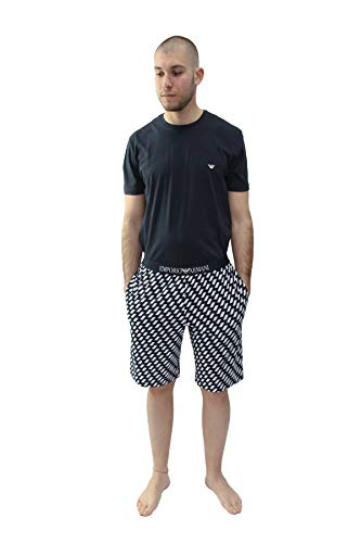 Emporio Armani Herren Pyjama Marine (300) XL