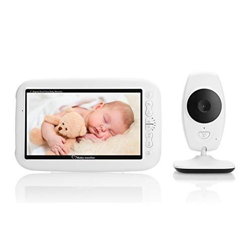 Monitor para Bebés con Video Inalámbrico De 7.0 Pulgadas con Cámara HD, Llamada De Audio Bidireccional, Visión Nocturna por Infrarrojos, Monitor De Temperatura para La Seguridad del Hogar
