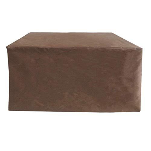 SEESEE.U Fundas de Muebles para Almacenamiento 123x123x71cm, Fundas de Muebles de Patio 420d Oxford Cloth Fundas de Muebles Impermeables para Exteriores, para Exteriores Cubierta de Muebles de jardín