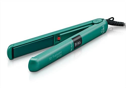 GAMA ITALY PROFESSIONAL CP9 Digital Ion 3D - Plancha para el pelo, temperatura regulable, 80% de iones, placas basculantes revestidas en turmalina