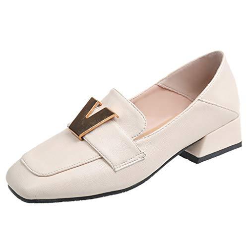 ODRD Sandalen Shoes Lässige Frühling niedrighackige Frauenpumpen Schuhe Erbsen einzelne Schuhe Square Head Student Schuhe Schuhe Strandschuhe Freizeitschuhe Turnschuhe Hausschuhe