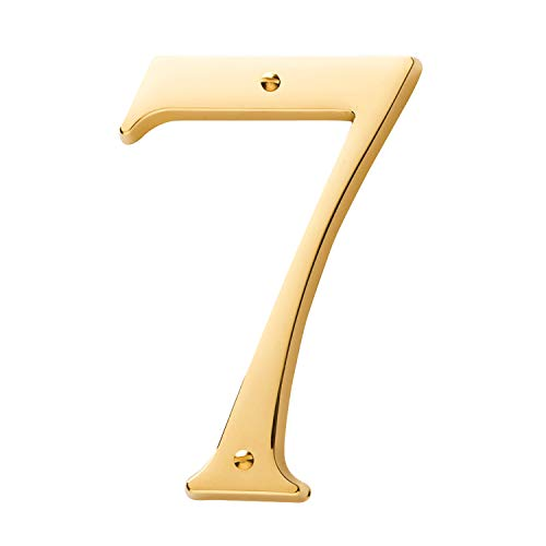 Baldwin Estate 90677.003.CD Solid Brass Traditional House Number Seven in Polished Brass, 4.75