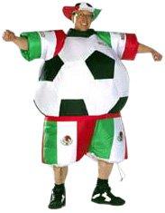 Unbekannt Sparmeile 25719 - Aufblasbares Kostüm Mexico Fußball