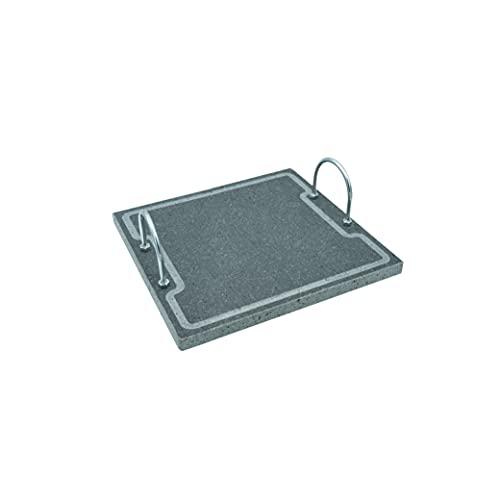 Lava Grill Plus S 30 x 30 cm parrilla con asas piedra volcánica Etna placa lijada para horno y barbacoa cocción carne, pescado, verduras y pizza Etna Stone & Design